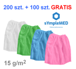 Gynaecological skirt for patients, fleece, disposable