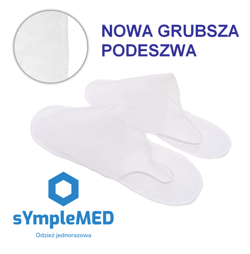 Protective slippers for patients, non-woven, disposable
