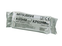 Video printer paper Mitsubishi K65HM (KP65HM), high density type